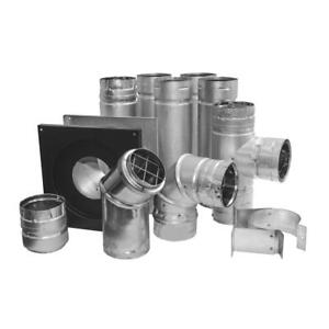 """DuraVent 4"""" Stove Pipe Kit double Wall Stainless Steel Adjustable Twist Lock"""