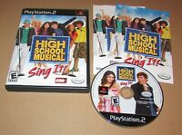 High School Musical: Sing It for Playstation 2 PS2 Complete Fast Shipping!