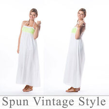 Tie halter Back Maxi Dress Bridesmaid Beach Wedding Party Evening Dress. Lined