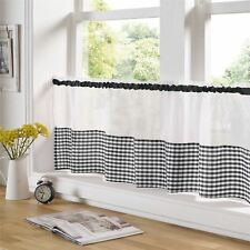 "BLACK AND WHITE GINGHAM 59"" X 24"" – 150CM X 61CM KITCHEN CAFE CURTAIN PANEL"
