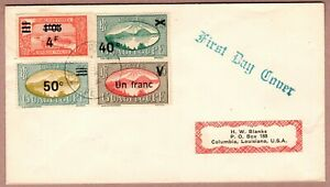 Guadeloupe 1944 First Day Cover Pointe a Pitre / Columbia USA