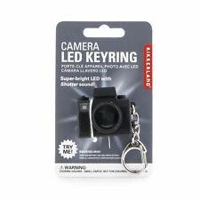 Kikkerland Camera LED Keyring Keychain Shutter Sound Novelty Quirky Gift Idea