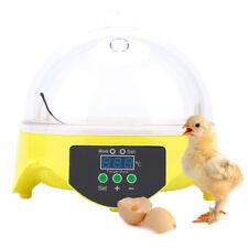 7 Uova Mini Incubatrice Eggs Anatra Gallina Pulcini Set Temperatura Controllo