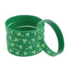 bracelet (2 pieces) Celtic Shamrock green silicone