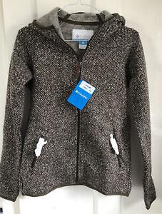BNWT Columbia Womens Chillin Fleece Knitted Hoodie Jacket XS RRP £90
