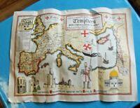 Carte des Lieux pauvres Chevaliers du christ les Templiers religieux militaire