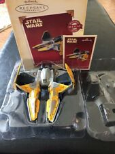 HALLMARK KEEPSAKE STAR WARS ANAKIN SKYWALKER'S JEDI STARFIGHTER FEATURES SOUND