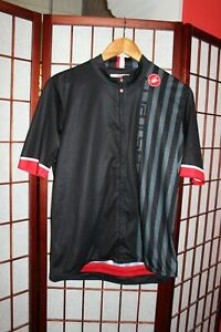 Castelli black cycling jersey  size 3 XL . ALY