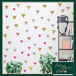 Triangles Wall Stickers ROSE GOLD Decal Child Vinyl Decor office,nursery,bedroom