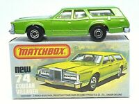 Matchbox Lesney No.74d Mercury Cougar Villager In Type 'K' With 'NEW' Box (MINT)