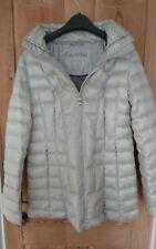 Calvin Klein Puffer Chaqueta De Plata Rara Empacable ligero Premium abajo Tamaño S