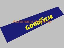 """53"""" Goodyear windshield sun strip visor screen decal sticker v8 nascar star tire"""