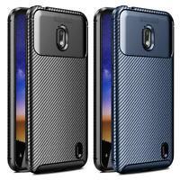 For Nokia 2.2 TA-1183 Black Blue Fibre Silicone Shockproof Gel Phone Case Cover