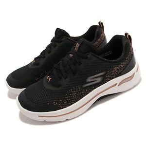 Skechers Go Walk Arch Fit-Flying Stars Black Gold Women Casual Shoes 124486-BKGD