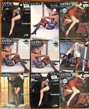 9 Pairs Cette Mixed Lot Nylon Pantyhose Tights & Stockings Medium