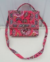 Vera Bradley Julia Hand Bag Color Me Coral long strap handled purse turnlock NWT