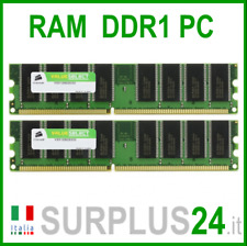 CORSAIR VALUE SELECT RAM 2GB (2x 1GB) PC3200U DDR1 400Mhz 184pin x DESKTOP
