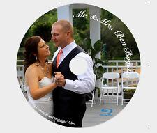 Custom Printed Blu-Ray 25GB BD-R Bluray ~FULL COLOR~ Weddings, Graduations
