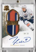 2010-11 The Cup Emblems Of Endorsement Auto Patch Taylor Hall 04/15 1/1 JERSEY #