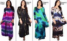 Designer Plus Size Women 2 Piece Tie Dye Skirt & Top Dress Set Outfit 1X, 2X, 3X