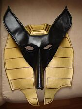 ANUBIS HAND MADE LEATHER MASK- EGYPTIAN- VARY RARE