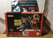 Best of the best championship KARATE SUPER NINTENDO SNES PAL Esp. / Completo