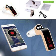 Car FM Transmitter Bluetooth Receiver Speaker Handfree Phone Display USB Charger