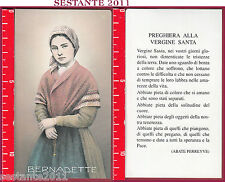 3538 SANTINO HOLY CARD BERNADETTE PREGHIERA ALLA VERGINE SANTA LOURDES