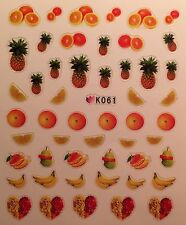 Nail Art 3D Decal Stickers Fruit Pineapple Banana Orange K061