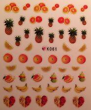 Nail Art 3D Decal Stickers Fruit Pineapple Banana Orange K061