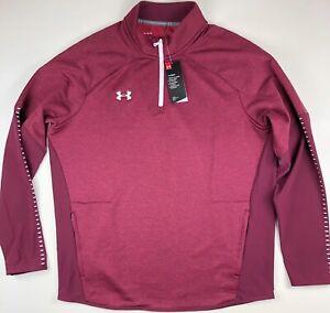 Under Armour Qualifier Hybrid 1/4 Zip Pullover Jacket 1327205-609 XL $60
