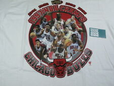 VINTAGE STARTER CHICAGO BULLS NBA 1997 CHAMPIONS TEE SHIRT WHITE XL AIR JORDAN