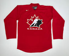 Vintage Nike Canada Hockey Jersey Size Adult Small Red