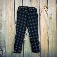 Elle Womens Poka Dot Black Dress Career Cotton Stretch Pants 2