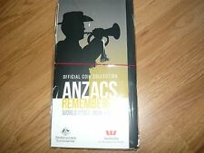 2015 20c Official Coin Collection ANZACS REMEMBERED WWI set of 14 UNC & folder