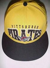 Pittsburgh Pirates Logo MLB NL Adult Unisex Yellow Black Baseball Cap Hat 7 1/8