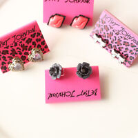 New 4Pairs Betsey Johnson Mixed Stud Earrings Gift Fashion Women Party Jewelry