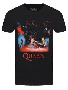 Queen Live Shot Spotlight T-Shirt Herren Schwarz