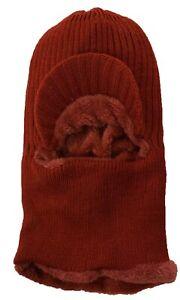 Balaclava Neck Cover Hood Ski Tactical Faux Fur Face Mask Visor Beani Hat Cap