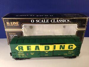 K-Line O Scale Classics READING PLUG DOOR BOXCAR #17039 K761-1931 w/ box