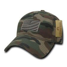 135a0cca621a5 WC Camouflage USA US American Flag Patch United States America Polo Cap Hat  Caps