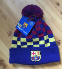 FC Barcelona Official Football Soccer Gift Knitted Hat Crest NWT
