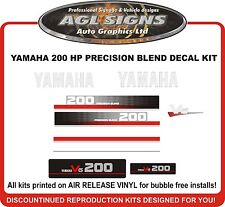 1991 YAMAHA 200 HP Precision Blend Outboard Decals Reproductions 150 175 225