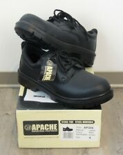 Apache AP306 Black Leather Steel Toe Safety Work Boots Size UK 9