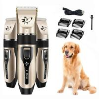 Electric Pet Dog Hair Trimmer Grooming Clippers USB Cat Hair Cutter Shaver Tool