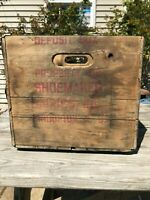 Vintage Shoemaker Dairy Inc. Milk Crate Wood & Metal