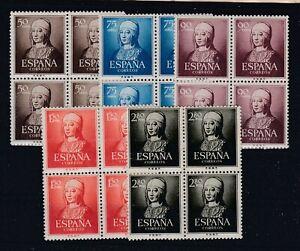 ESPAÑA.- SERIE Nº 1092/96 EN BLOQUE DE CUATRO NUEVA MNH SIN CHARNELA.