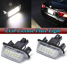 Rear LED Number License Plate Light Kit White Lamp For Toyota Camry 2012-2017