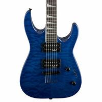 Jackson JS32TQ DKA Dinky String Thru Electric Guitar in Transparent Blue