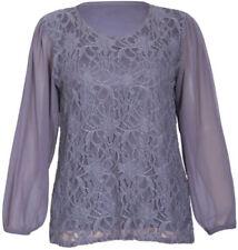 Maglie e camicie da donna grigi floreale party